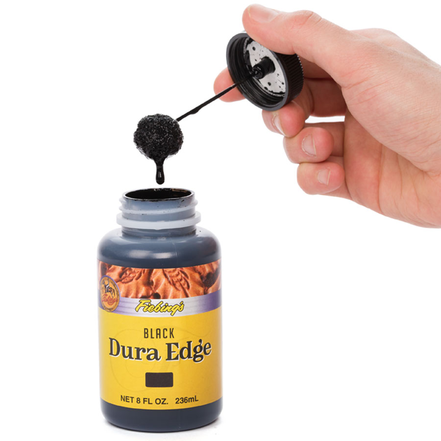 Fiebing's Dura Edge Finish mit Hand