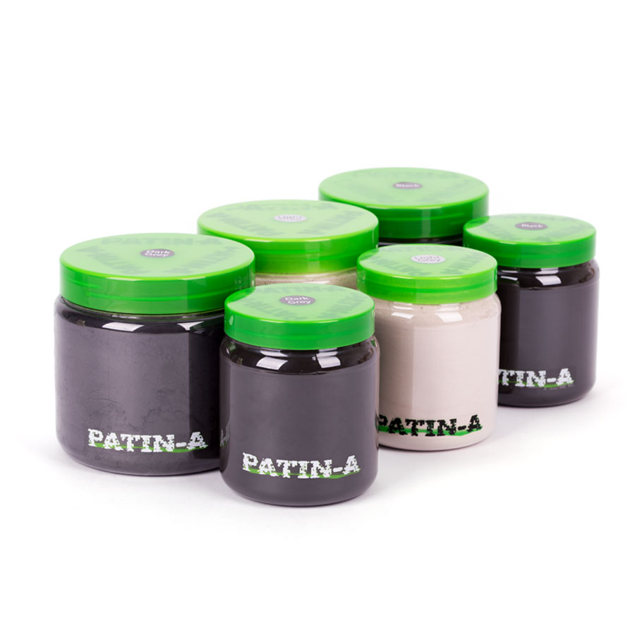 PATIN-POWDER 3er-SET - kalte Farben - 500ml & 1000ml