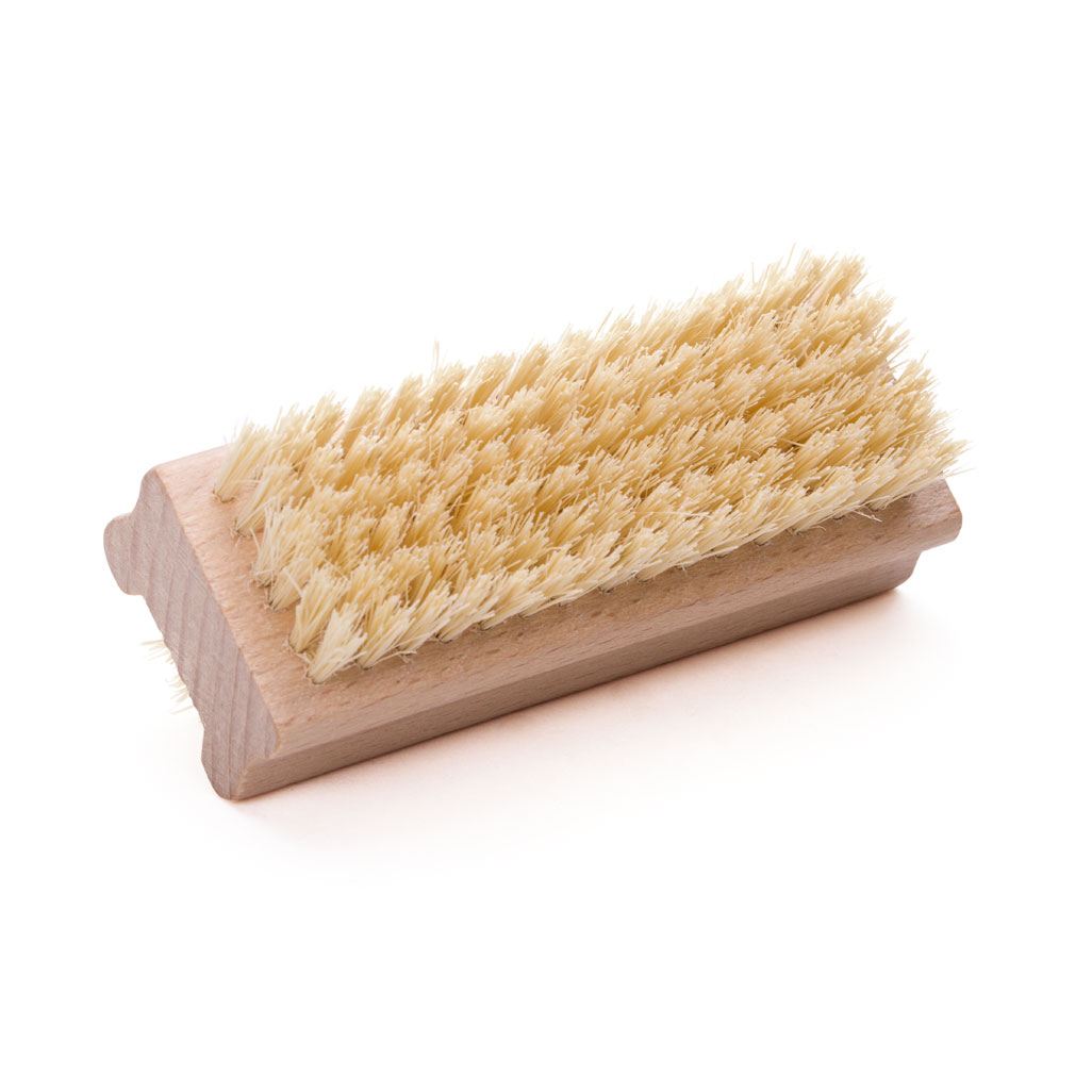 Nail brush with natural bristles