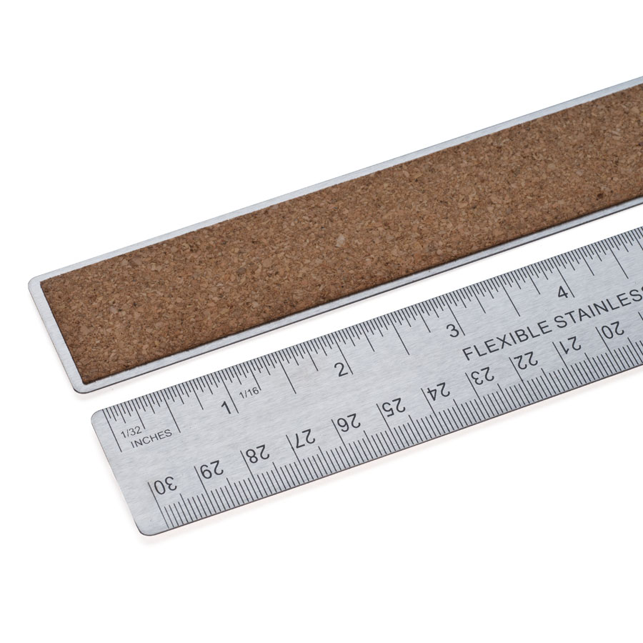 Stainless Steel Ruler (with cork back)