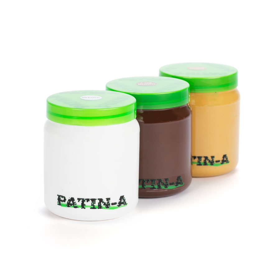 PATIN-PASTE - Patinierpaste -Helle Farben 3x500ml