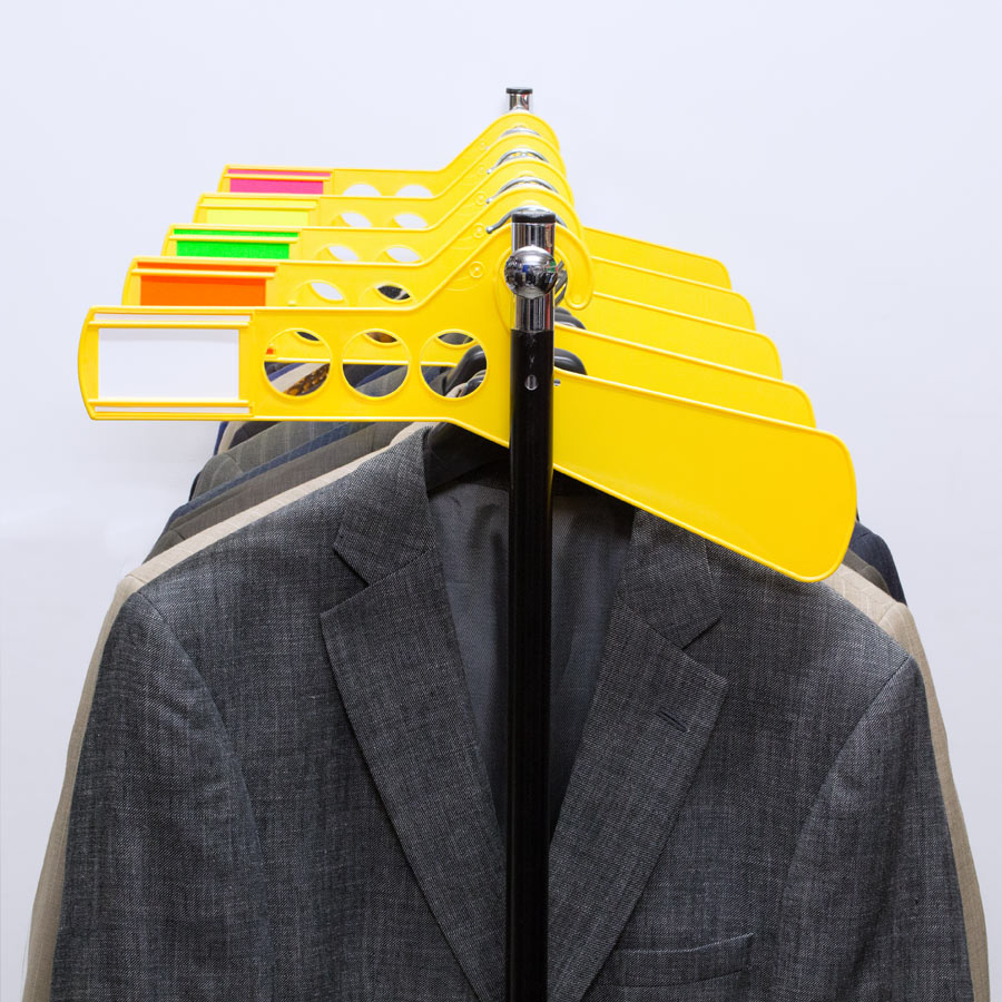 Ultimate Rack Divider with Insert Yellow Hanger
