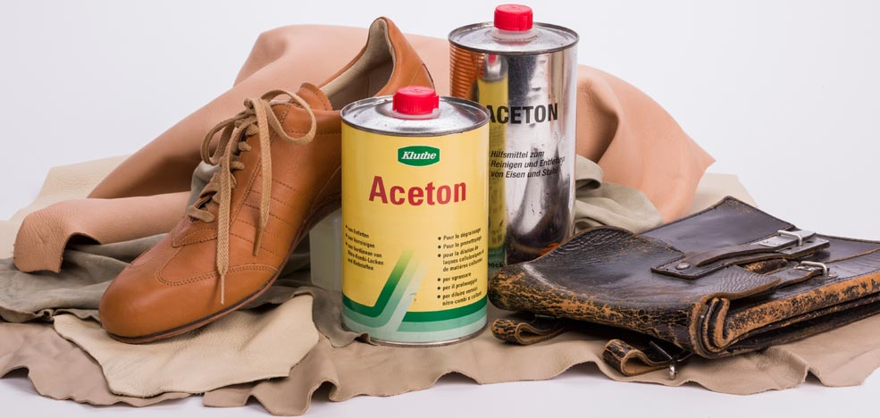 Acetone - the perfect leather cleaner?