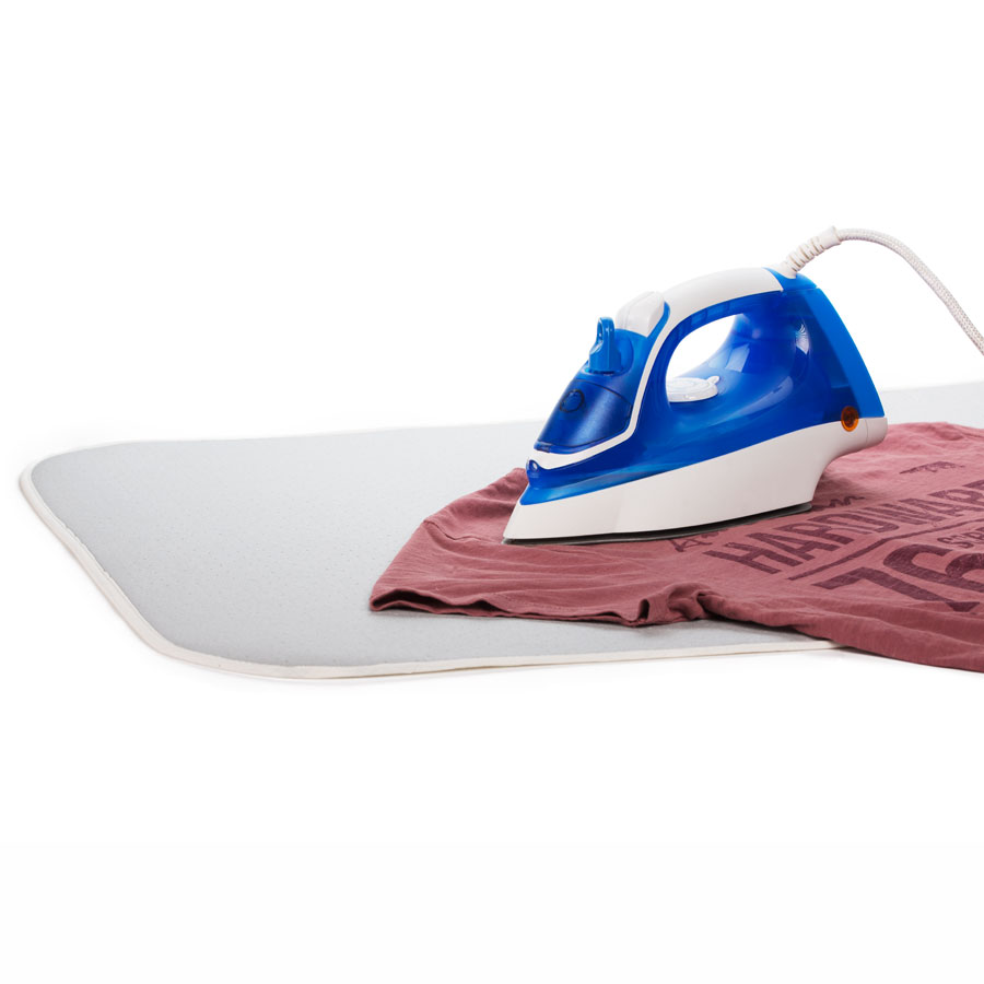 Ironing Blanket With Iron and T-Shirt