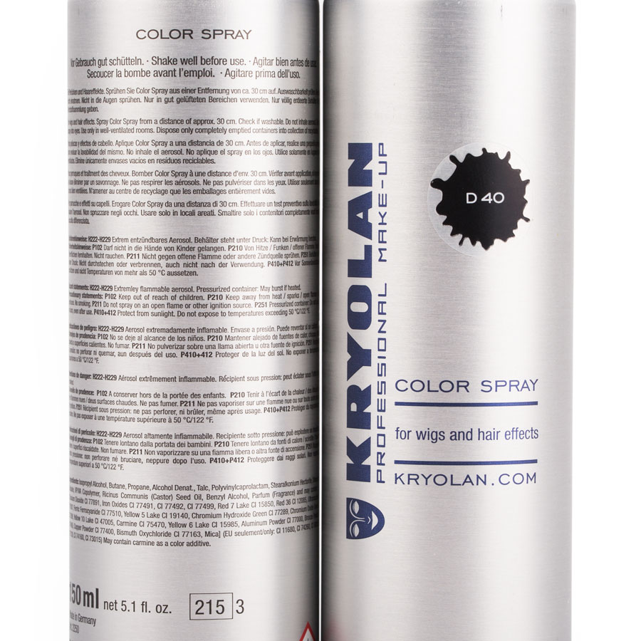 Kryolan - Color Spray - Farb-Spray Anlietung