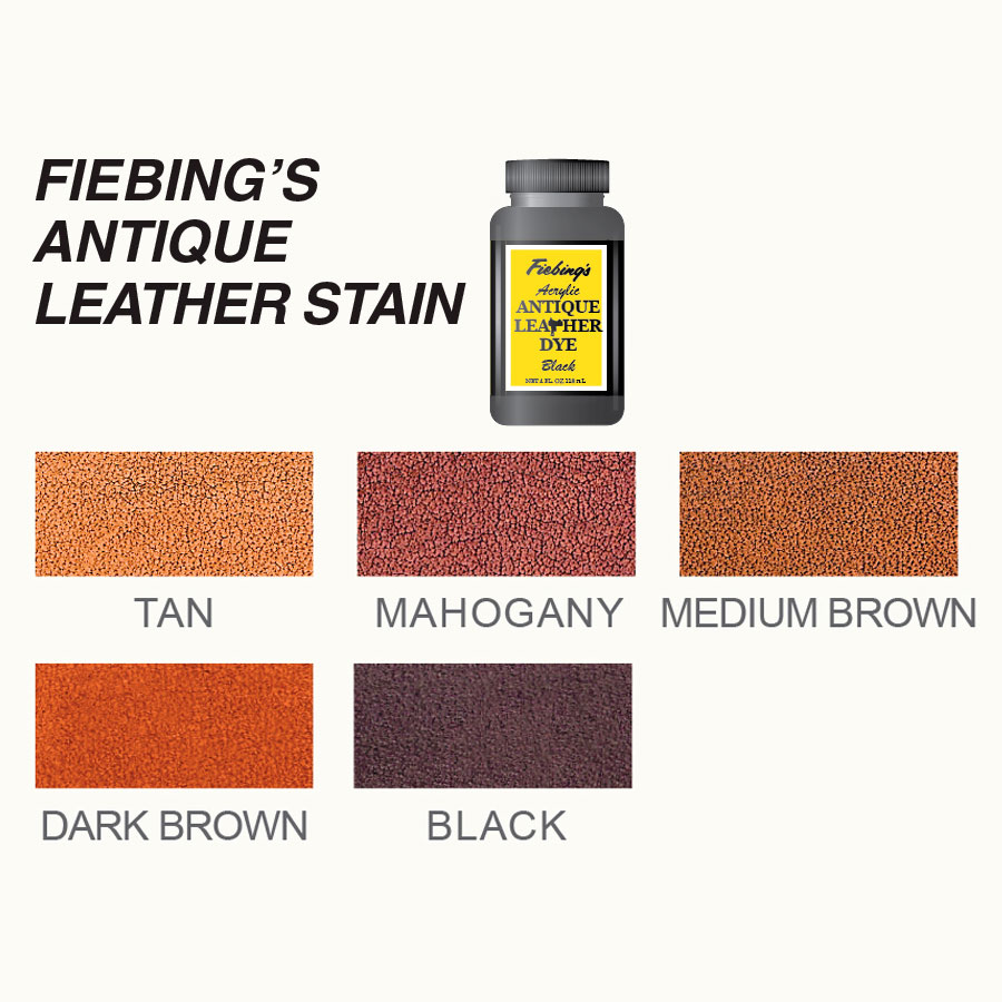 Farbkarte Fiebings Antique Leather Stain