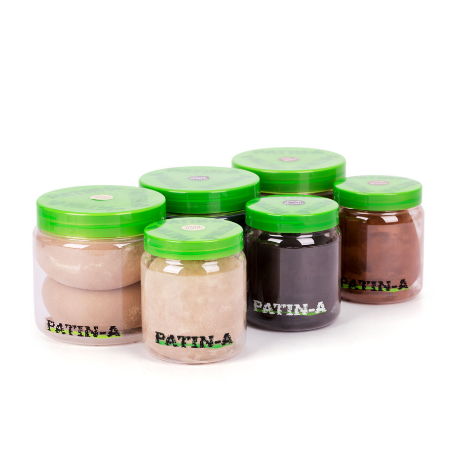 PATIN-POWDER--PACK 3er-Set Warme Farben: 500ml & 1000ml