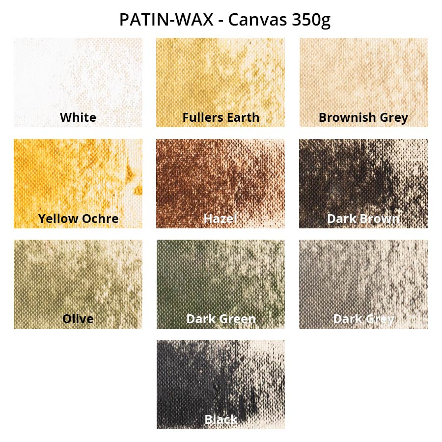 PATIN-WAX 10er-Set - Patinierstifte - Farbkarte auf Canvas