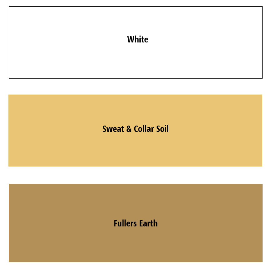 PATIN-CREME SET of 3 - Light Shades - Colourchart