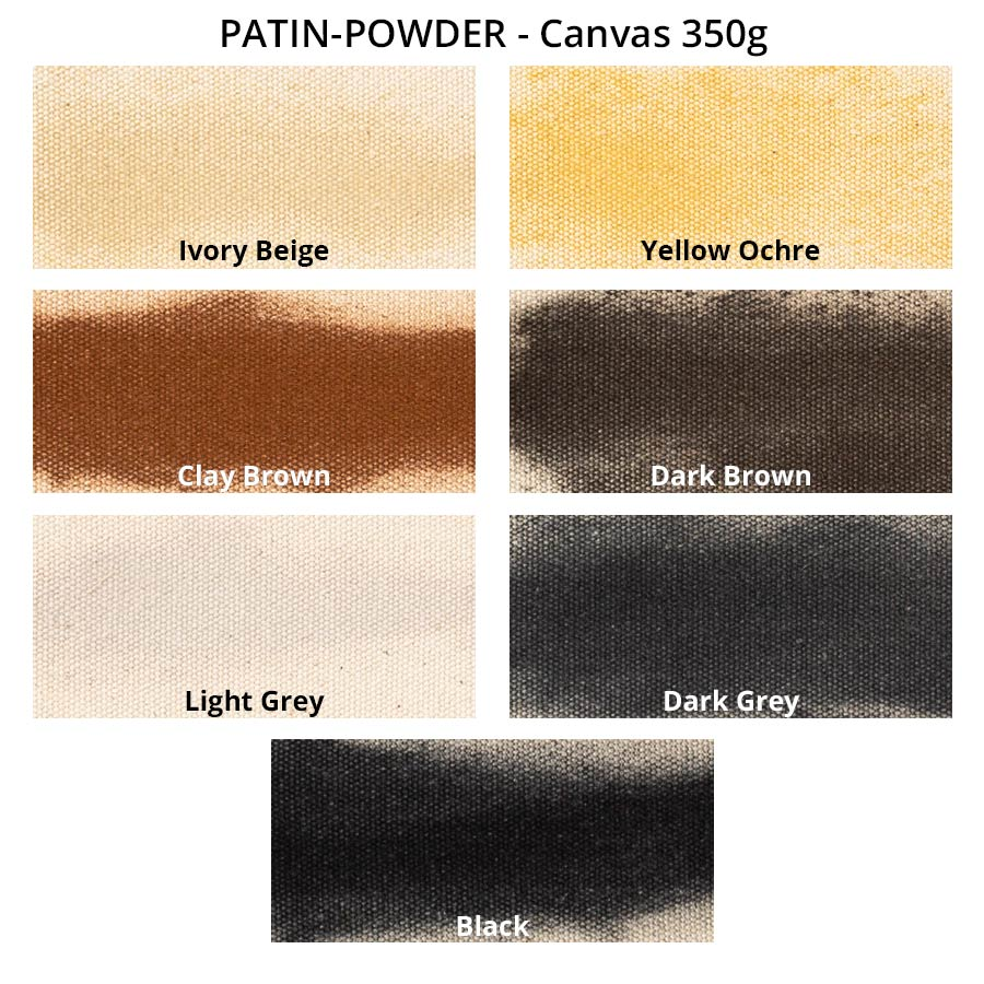 PATIN-POWDER-PACK - Patinierpuder - Farbkarte auf Canvas