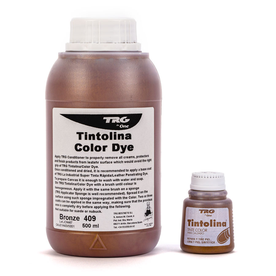 Metallic Lederfarbe - TRG Tintolina - 500ml & 25ml